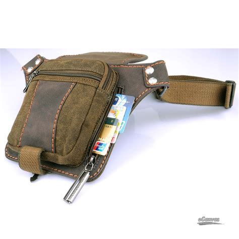 small canvas tote bag khaki belt bag waist pack