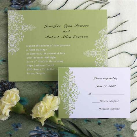 Cheap Green Wedding Invitations by Green Wedding Invitations Cheap Green Wedding Cards