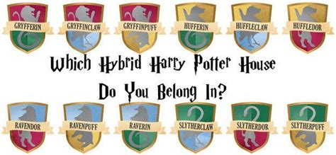 which hybrid harry potter house do you belong in harry