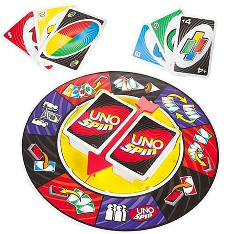 uno spin uno spin card mattel at
