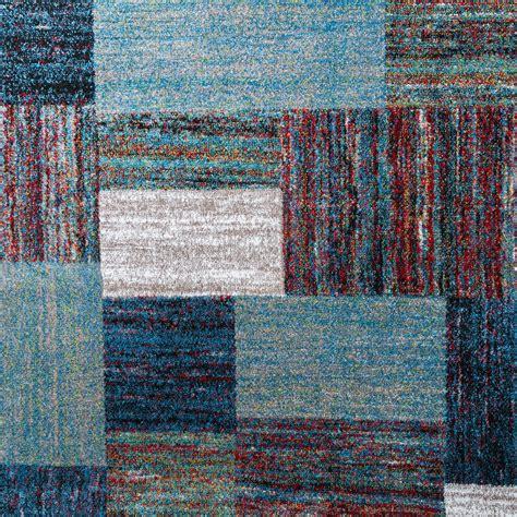 Kurzflor Teppich Blau by Designer Teppich Blau Meliert Kurzflor Modern Kurzflor