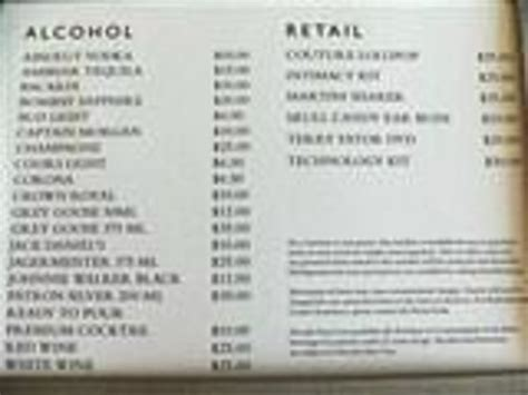 River Room Menu by Mini Bar Prices Picture Of The Mirage Hotel Casino