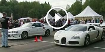 Bugatti Vs Nissan Drag Race Shame Bugatti Veyron Humiliated By Nissan
