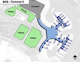 Boston Terminal Map by Boston Logan Airport Bos Terminal C Map