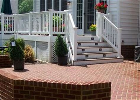 deck to patio transition deck to patio transition hidden gate access by the steps our home pinterest