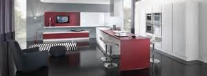 Red And White Kitchen Design New Modern Kitchen Design With Red And White Cabinets