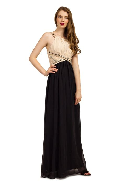 Chiffon Lace Panel Dress black embellished lace panel chiffon maxi dress