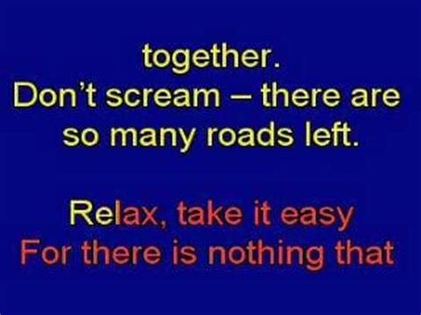 testo relax take it easy re relax take it easy karaoke lyrics