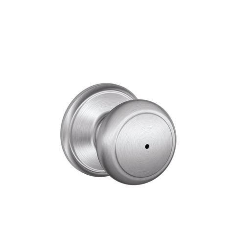 shop schlage f andover satin chrome push button lock
