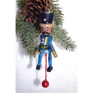 vintage wooden nutcracker soldier christmas tree ornament