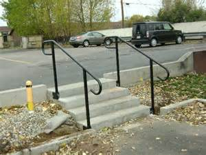 Exterior iron railing outdoor iron railings for steps metal handrail