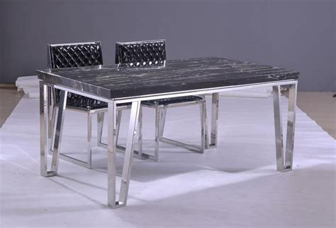 Dining Table With Green Chairs Stainless Steel Dining Table Stainless Steel Dining Table