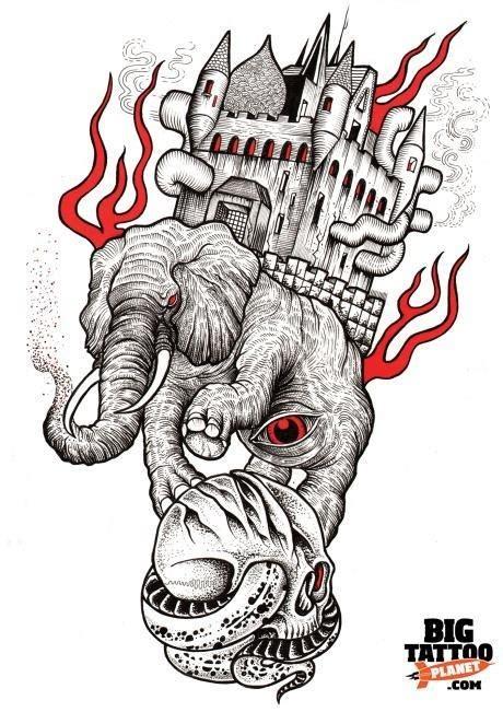 tattoo london elephant and castle слон тату эскизы галерея идей для татуировок фото