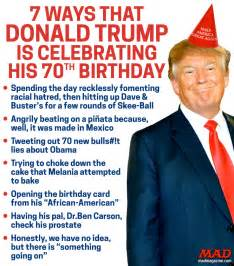 7 ways that donald trump is celebrating his 70th birthday