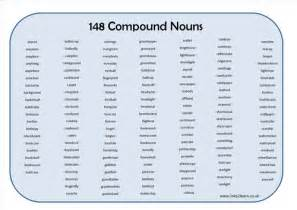 list of 148 compound nouns learning mat jpg english