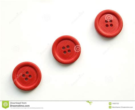 Three Buttons three buttons on white background stock photo image