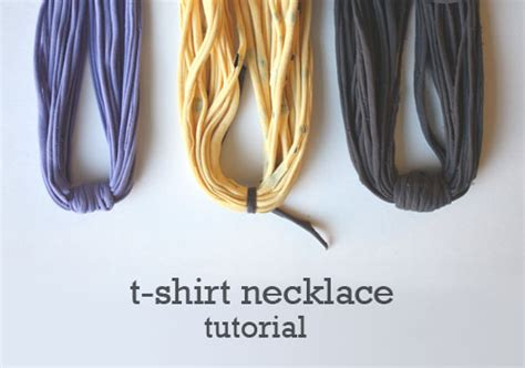 pattern for t shirt necklace inspiration diy recycled fabric necklace