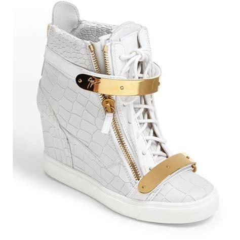 giuseppe zanotti womens sneakers giuseppe zanotti lorenz high top wedge sneaker womens