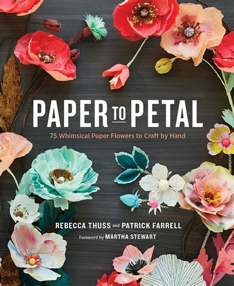 Paper Flower Books - paper flower book from thuss farrell wedding