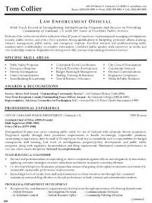 enforcement officer resume sle best format 2016