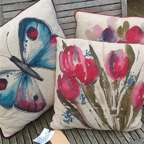 hand painted upholstery fabric hand painted cushions paul brown re upholstery pinterest