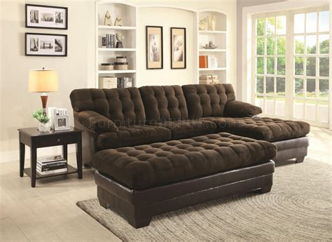 503878 janie sectional sofa in chocolate fabric by coaster