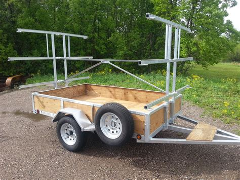 canoes trailers galvanized 6 place canoe kayak trailers for sale