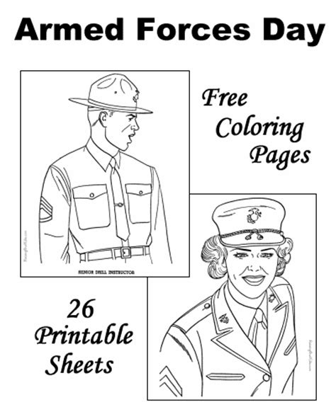 armed forces day coloring sheets and pictures