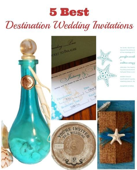 5 Best Destination Wedding Invitations of the Year