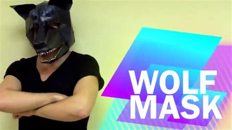 How To Make A Wolf Mask Out Of Paper - how to make wolf mask from paper diy handmade