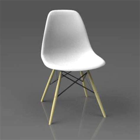 Model Chair by Eames Side Chair Dsw 3d Model Formfonts 3d Models Textures