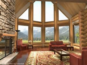 house plans with vaulted great room monashee log home pictures
