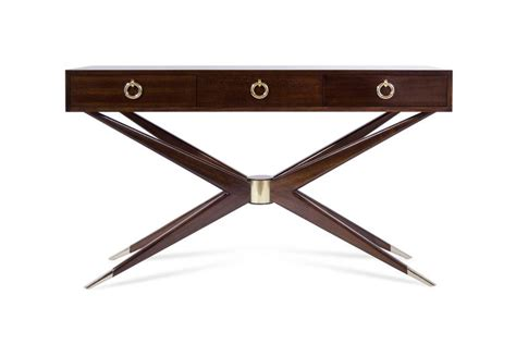 mahogany sputnik console table for sale at 1stdibs