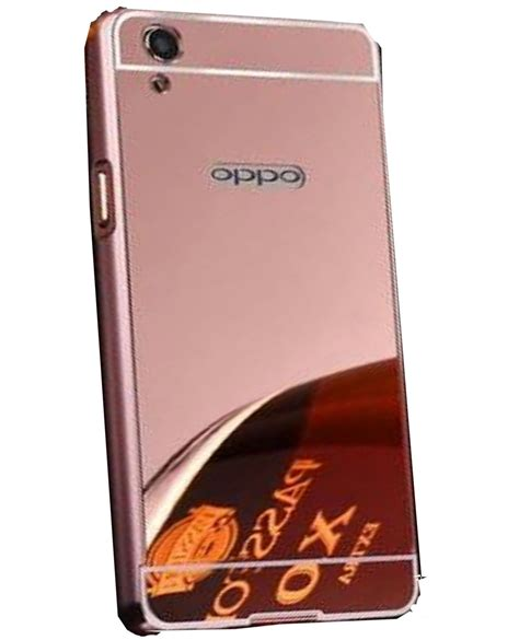 Oppo Mirror 5 Aircase Clear alike mirror back cover for oppo f1 plus gold plain back covers at low prices