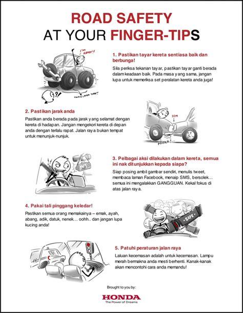 tips keselamatan jalan raya istimewa daripada honda malaysia edisi