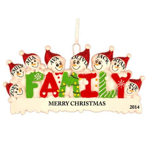 best 28 family christmas ornament personalized