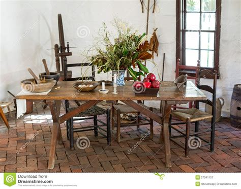 fashioned kitchen table fashioned colonial kitchen table royalty free stock