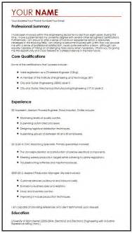 cv one page template one page cv exle myperfectcv