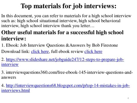 80 high school questions with answers