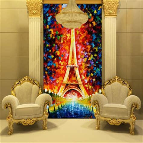 eiffel tower bedroom decor eiffel tower wallpaper oil painting 3d photo wallpaper