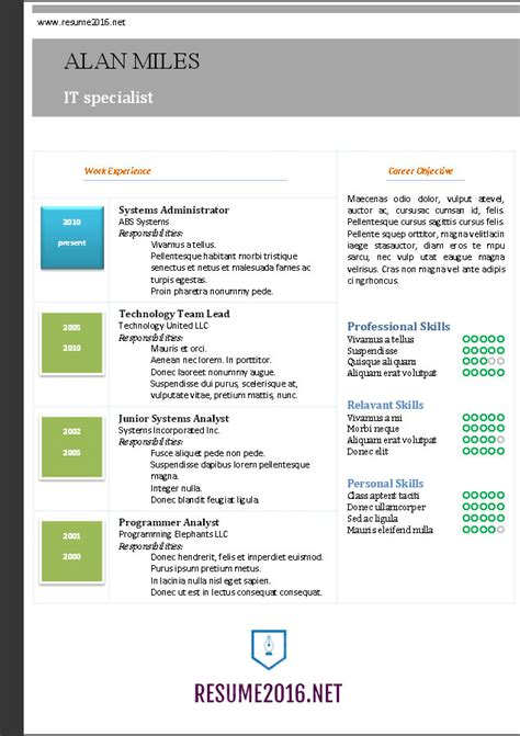 microsoft word resume template resume templates word free download