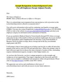 Acknowledgement Letter For Vacation Employee Acknowledgement Letter Templates 5 Free Word Pdf Format Free Premium