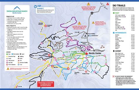 winter park colorado map nordic trail map snow mountain ranch winter park co