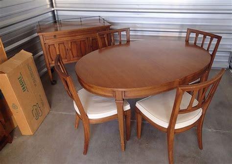 mid century modern dining table set mid century modern dining set drexel triune oval table
