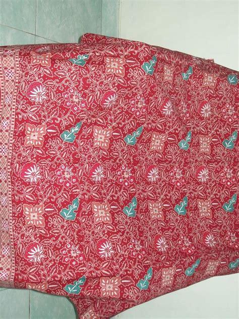 sorban murah motif merah sta13 motif kain batik bunga warna merah batik murah k177