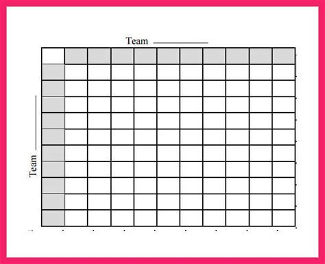 football betting card template football squares template bio letter format gt gt 26 football square template images