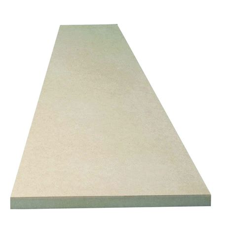 mdf home depot 3 4 in x 12 in x 4 ft bullnose mdf shelving board m35hd1212048000000a the home depot