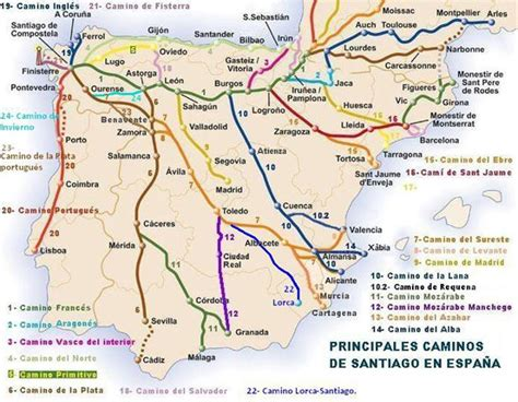 camino de satiago 191 cu 225 ntos caminos de santiago hay infoperegrino