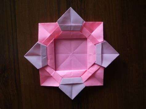 Photo Frame Origami - cool creativity diy origami flower picture frame