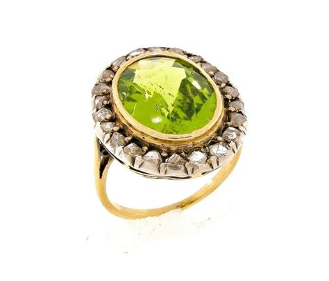 vintage peridot ring claude morady estate jewelry